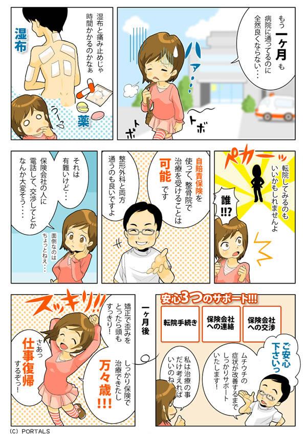 徳島交通事故・むち打ち治療の交通事故 交通事故の相談の漫画